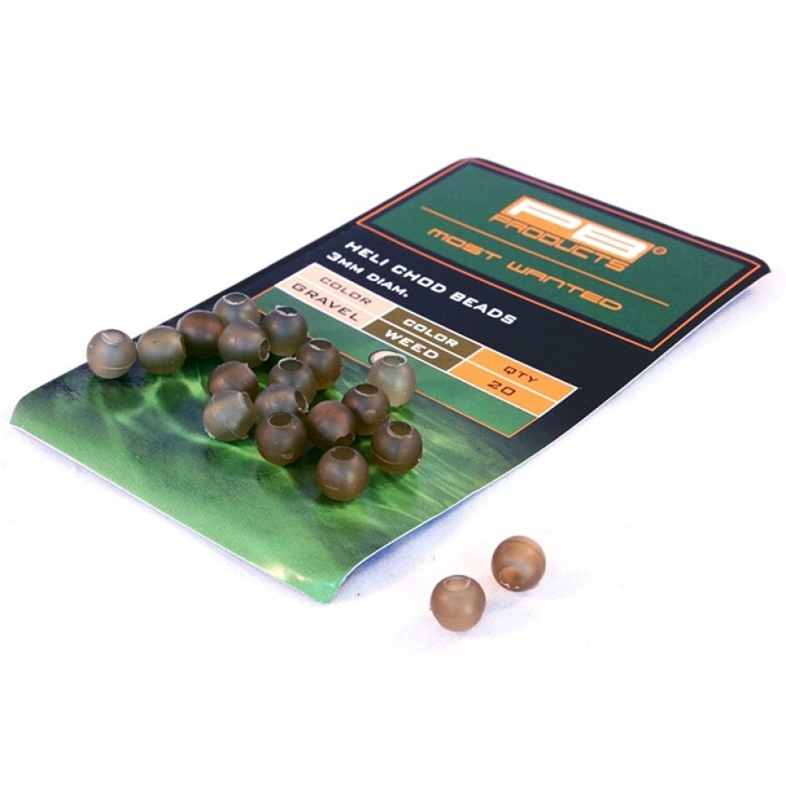 PB Products - Heli-Chod Beads Gravel/Weed