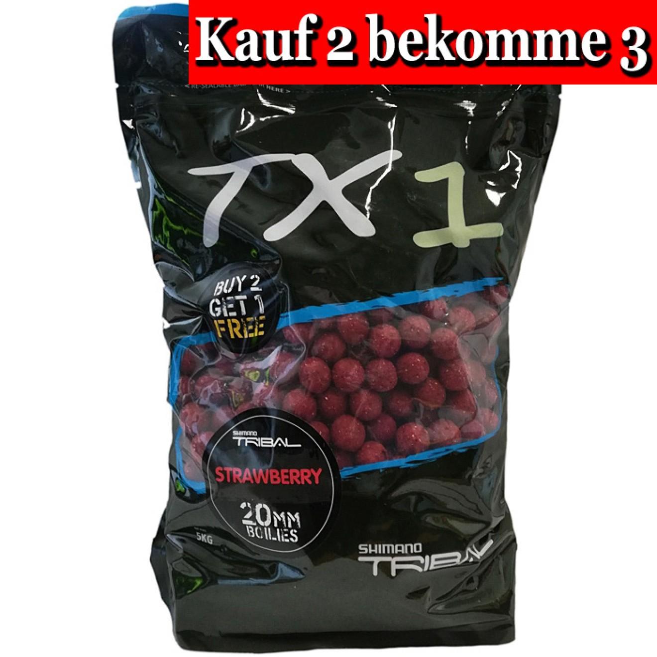 Shimano TX1 Strawberry Boilies 5kg 15mm