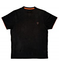 Fox - Brushed Cotton T-Shirt Black/Orange