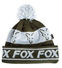 Fox - Green & Silver Lined Bobble