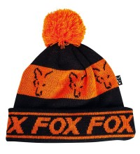 Fox - Black & Orange Lined Bobble